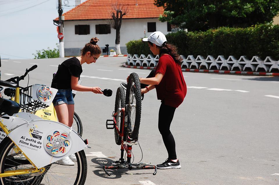 Aufnahme am Fahrrad